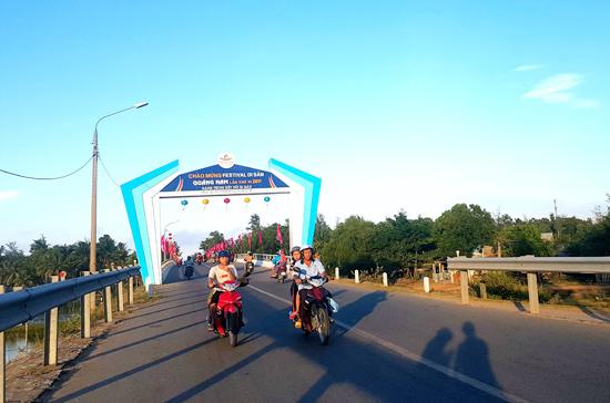 Đường về xã biển Tam Thanh (TP.Tam Kỳ).