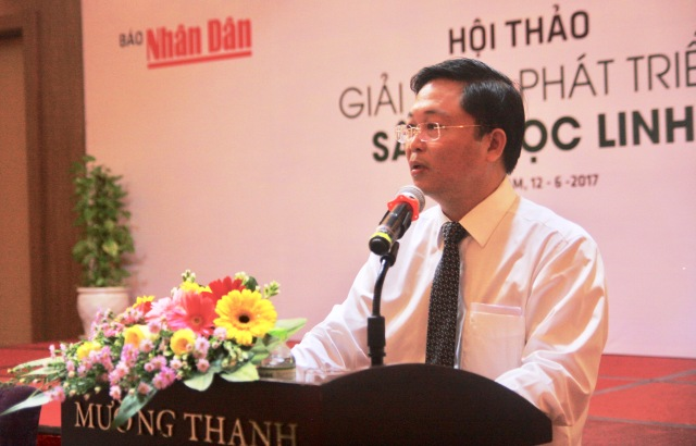 Vice Chairman Thanh speaks at the event