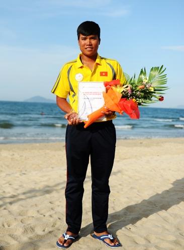 Vận động viên Viêtn Nam duy nhất đạt giải 5. Ảnh MINH HẢI