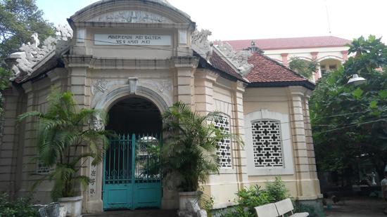 Nhà mồ Trương Vĩnh Ký nhìn từ mặt đường Trần Hưng ĐạoẢnh: TƯỜNG MINH