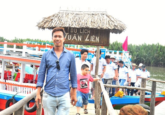 Tuan Lien at his ecotourism site