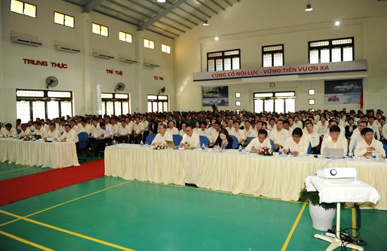 Hội nghị cho 6 tháng đầu năm, Thaco đề ra kế hoạch phát triển 6 tháng cuối năm, và chiến lượt cho hội nhập. Ảnh: MINH HẢI