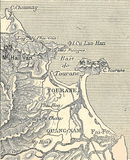 Một bản đồ thời Pháp.