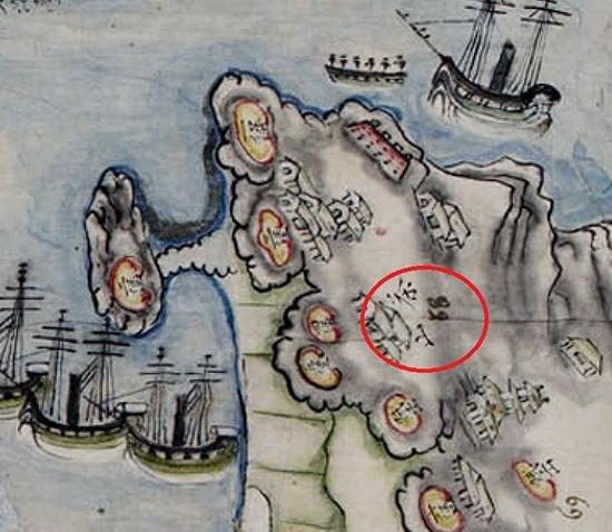 Một phần bản đồ chiến sự 1858.