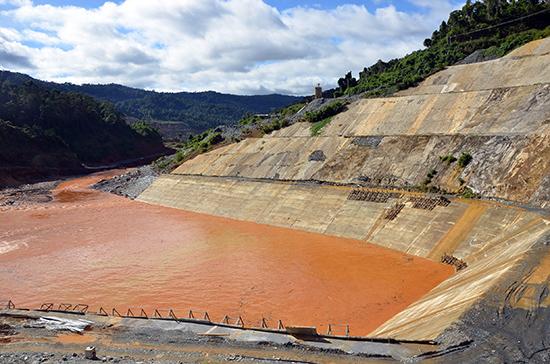 Một góc công trình thủy điện Sông Bung 2.Ảnh: T.H