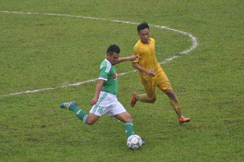 Trận đấu khai mạc vòng chung kết giữa Công an nhân dân và Mancons