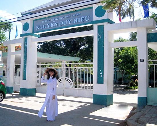 Trường THPT Nguyễn Duy Hiệu (Điện Bàn) sẽ bị di dời trong nay mai. Ảnh: ST