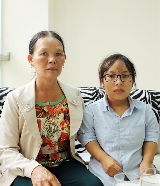 Kiều Trang và mẹ. Ảnh: Q.L