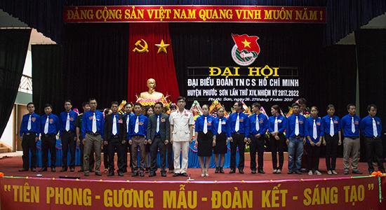 Ra mắt BCH Huyện đoàn Phước Sơn khóa XIV, nhiệm kỳ 2017 - 2022, Ảnh: L.Đ