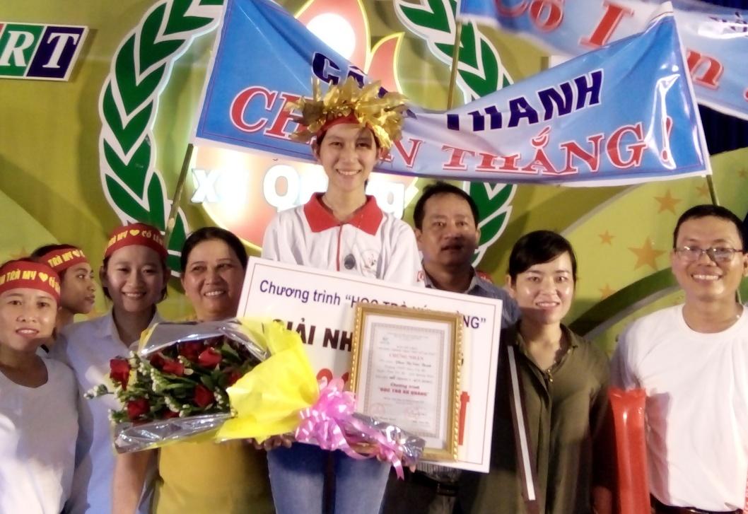 Thí sinh Phan Thị Cẩm Thanh, quán quân tháng 3 quý III