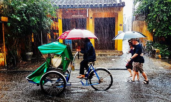 Dưới cơn mưa chiều.