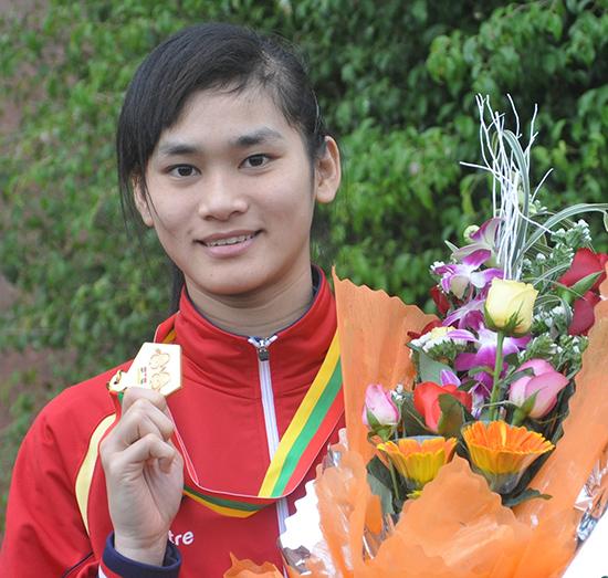 Hy vọng Phạm Thị Thu Hiền một lần nữa giương cao tấm huy chương vàng SEA Games như đã làm tại SEA Games 27.