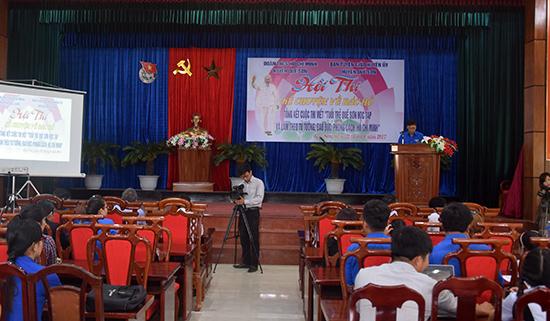 Khai mạc hội thi kể chuyên về Bác Hồ - Ảnh: THANH THẮNG.