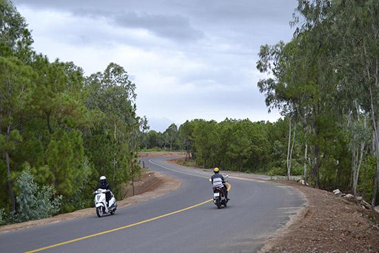 Trục giao thông đối ngoại phía bắc được mở rộng hoàn thành.