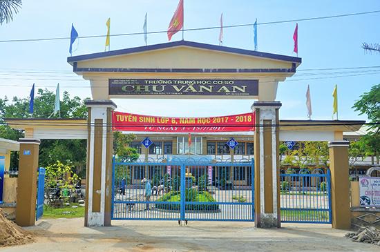 Trường THCS Chu Văn An. Ảnh: X.P