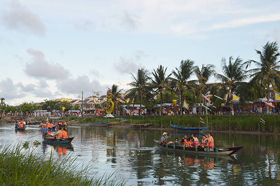 Tourists in Hoi An city, Quang Nam province