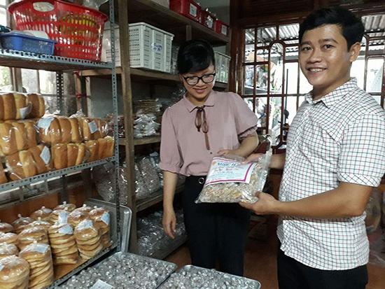 Sản phẩm bánh kẹo Ngọc Hải được thị trường trong và ngoài tỉnh ưa chuộng. Ảnh: D.T