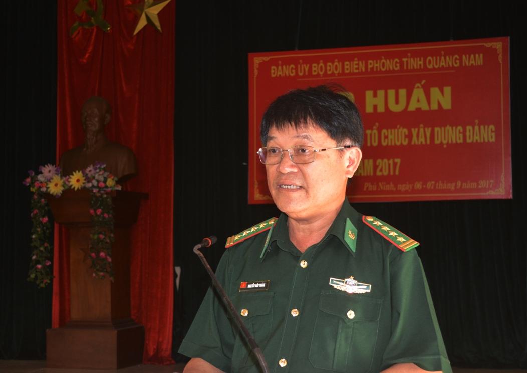 Đại tá Nguyễn Hữu Thắng – Phó Bí thư Đảng ủy – Chỉ huy trưởng BĐBP tỉnh phát biểu khai mạc.