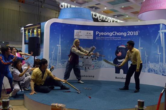 Du lịch Hàn Quốc cũng được giới thiệu quảng bá tại hội chợ dịp này