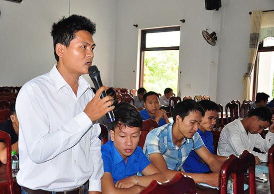 Diễn đàn đối thoại về khởi nghiệp, lập nghiệp tại Phú Ninh. Ảnh: VINH ANH