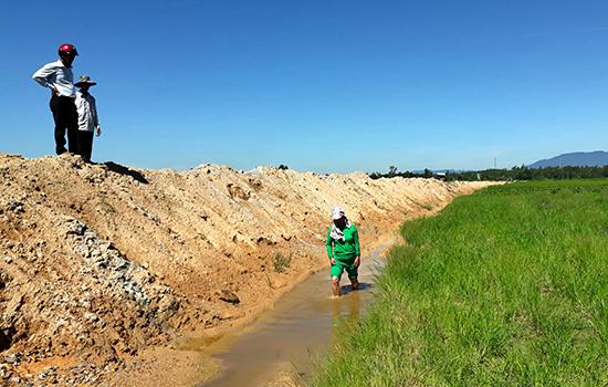 Nhiều diện tích hai bên đường tuyến đường  dẫn lên cao tốc Đà Nẵng - Quảng Ngãi bị bỏ hoang. Ảnh:  Tân Biên