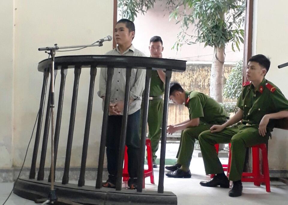 Bị cáo Chung tại tòa. Ảnh: C.T