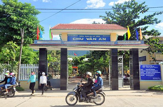 Trường THPT Chu Văn An (Đại Lộc) đạt chuẩn năm 2016. Ảnh: X.PHÚ