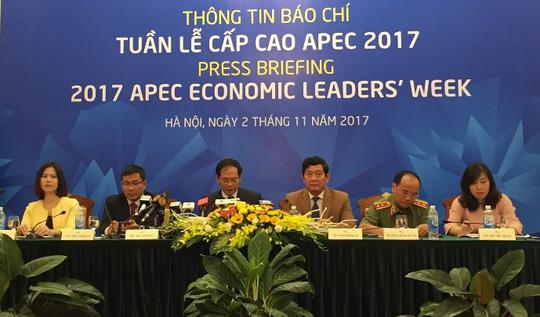Press briefing on 2017 APEC Economic Leaders' Week