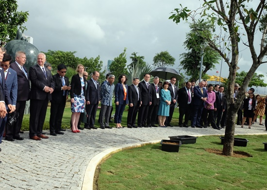 The APEC delegates attending the event