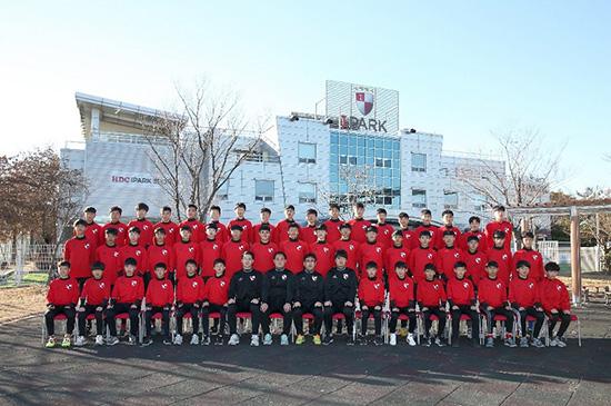 Đội tuyển U15 Busan I'park (Hàn Quốc) dự giải giao hữu quốc tế do PVF tổ chức.