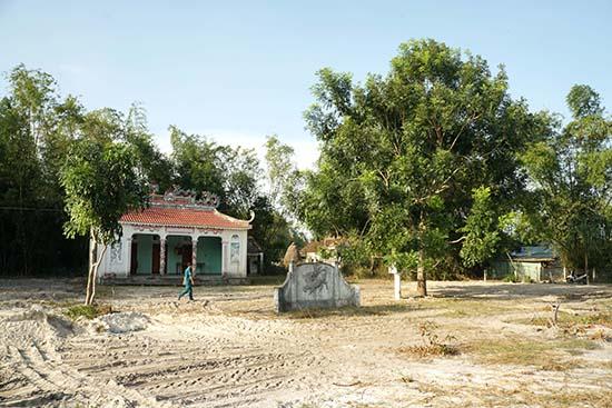 Vườn Miếu - Nơi thành lập lực lượng du kích tập trung xã Kỳ Anh và là nơi đã diễn ra nhiều hoạt động quan trọng. Ảnh: N.Đ.N