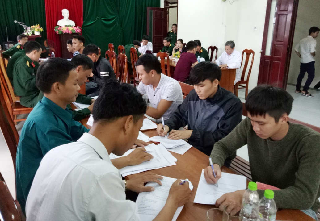 Phú Ninh tổ chức khám sức khỏe NVQS chặt chẽ đúng quy định.