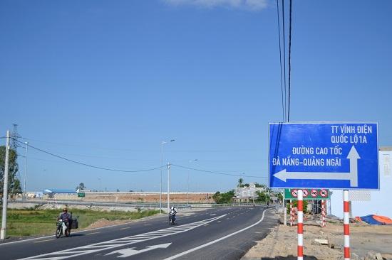Khu vực nút giao Mỹ Sơn nay đổi tên thành nút giao Phong Thử (Điện Bàn). Ảnh: CT