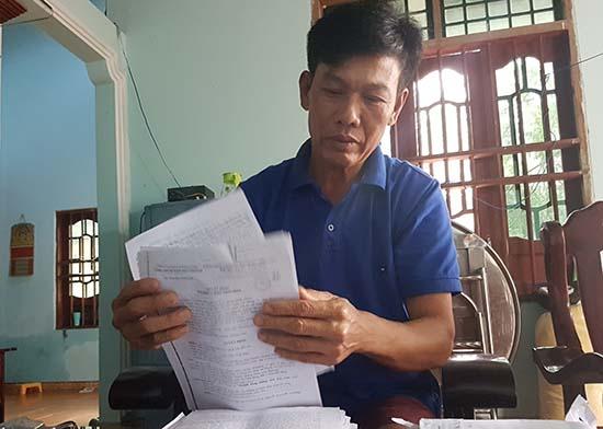 Ông Trần Công Tiến gửi đơn khiếu nại đến các cấp thẩm quyền. Ảnh: H.G