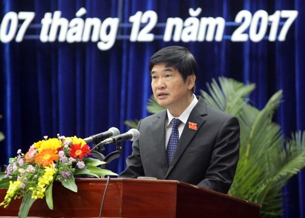 Ảnh: Bí thư Tỉnh ủy, Chủ tịch HĐND tỉnh Nguyễn Ngọc Quang phát biểu khai mạc Kỳ họp thứ 6. Ảnh: N.Đ
