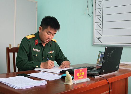Tiểu đoàn trưởng Tiểu đoàn 1 Hồ Sỹ Yên.