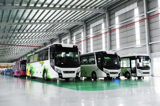 THACO's bus meets the demand of domestic market and export.