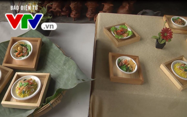 Beautiful pottery models of Hoi An specialties. Photo: vtv.vn