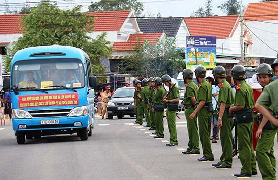 Lực lượng Công an làm nhiệm vụ tại sự kiện Festival Di sản Quảng Nam lần thứ VI.