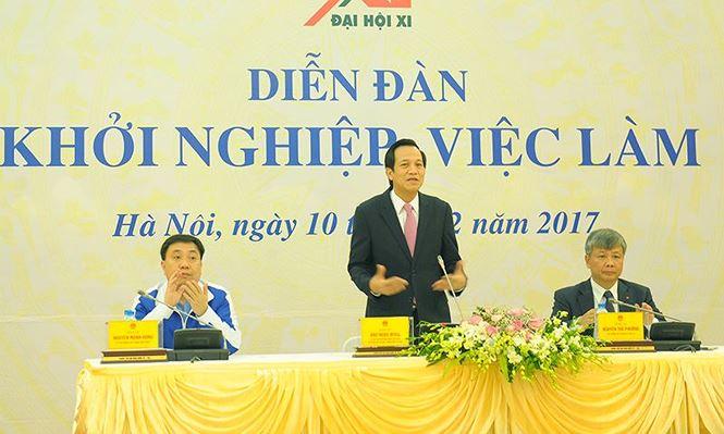 Bộ trưởng Bộ LĐ-TB&XH Đào Ngọc Dung phát biểu khai mạc đối thoại. Ảnh: N.TĂNG