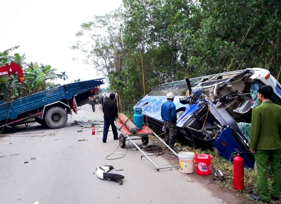 Vụ tai nạn khiến 2 người tử vong. Ảnh: D.T