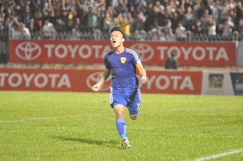 Thanh Trung được xem là ứng cử viên sáng giá cho danh hiệu Quả bóng vàng nam. Ảnh: T.Vy