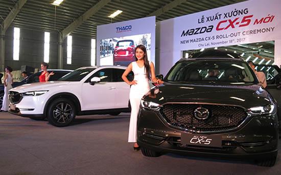 Xuất xưởng xe Mazda CX-5 mới của Thaco tại Chu Lai.