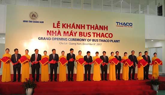 Sự kiện Thaco khánh thành nhà máy sản xuất xe bus tại Chu Lai được kỳ vọng sẽ có thêm nguồn thu ngân sách cho Quảng Nam.