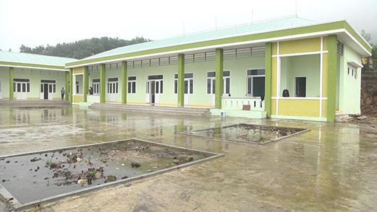 trường Mẫu giáo được để lại từ ngôi trường 3 cấp học tại thôn 5 xã Trà Nam.