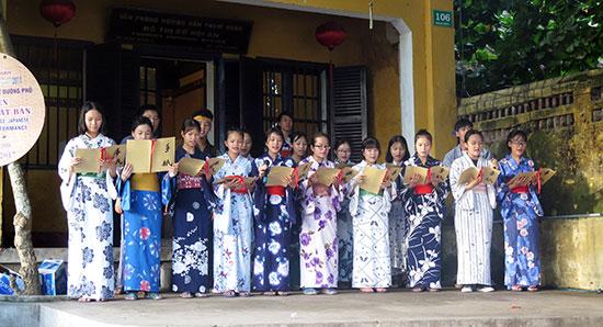 Các hoạt động tại Hội An trong Lễ hội giao lưu văn hóa Hội An - Nhật Bản. Ảnh: LÊ QUÂN