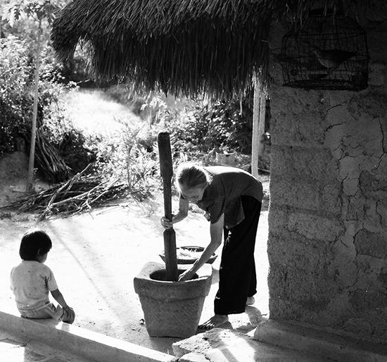 Không gian làng quê. Ảnh: Lê Trọng Khang