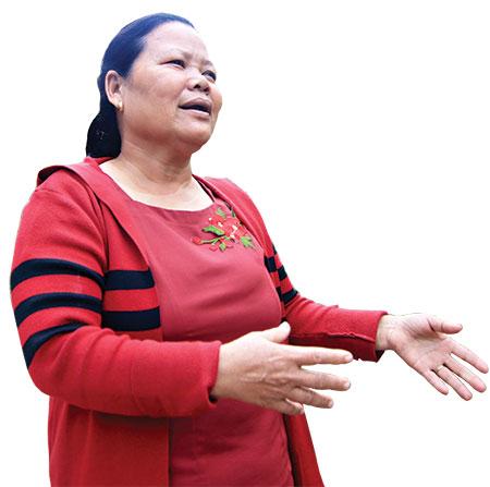 Chị Nguyễn Thị Tâm - Chi hội trưởng Chi hội phụ nữ khối phố Tân Phú, thị trấn Phú Thịnh, Phú Ninh. Ảnh: T.C