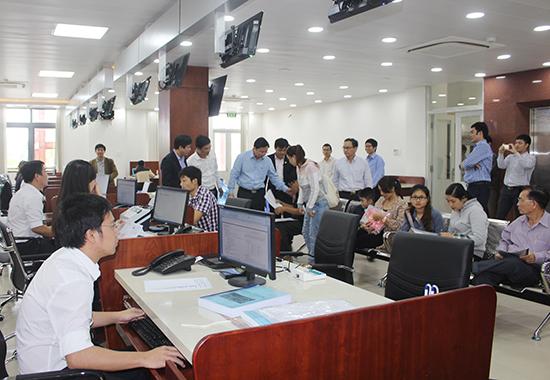 Sự vận hành của trung tâm hành chính công đã cải thiện môi trường đầu tư, kinh doanh Quảng Nam.Ảnh: T.DŨNG