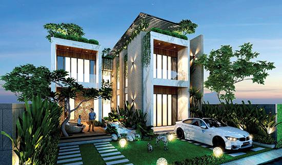 Phối cảnh thiết kế nhà ở của Trần Công Thủ.